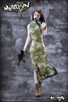 MULTIFUN 1/6 Scale Camouflage cheongsam Suit Cloth For 12'' Female Action Figure
