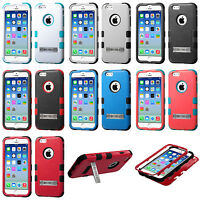 iPhone 6 Hybrid Cover Hard Armor Case with Metal Kickstand Shockproof