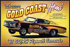 "1968 Plymouth Barracuda SS/AH ""Gold Coast Hemi"" Poster"