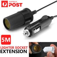 5m Car Cigarette Cigar Lighter Adapter Extension Cable Socket Charger Lead 12v