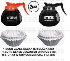 BUNN Coffee Pots 1 reg 1 decaf 12 Cup 64oz Commercial & 100 FREE CF12 FILTERS