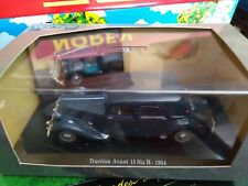 CITROEN TRACTION AVANT 15 SIX H 1954 UNIVERSAL HOBBIES BOITE VITRINE