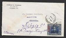 Panama covers 1937 cover to Sofia/Bulgaria redirekted to Leipzig