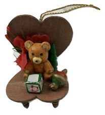 Vintage Christmas Ornament Teddy Bear In a Rocking Chair
