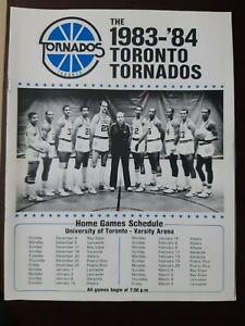 1983 CBA TORONTO TORNADOS BASKETBALL PROGRAM - RARE