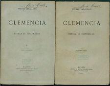 CABALLERO FERNAN CLEMENCIA NOVELA DE COSTUMBRES 2 VOLUMI MIGUEL GUIJARRO 1881