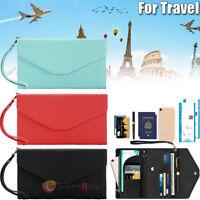 Travel Passport Holder Wallet RFID Blocking PU Leather ID Card Money Case Cover