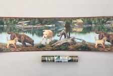 "Chesapeake Wall Border 2 Rolls Labrador Country Cabin Lake Pup Turtle 8.25""x 5yd"