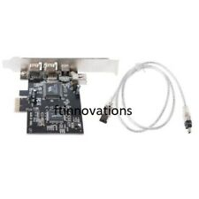 Firewire Card Adapter 1394A PCI-e 1X IEEE 4 Port (3+1) With 6 To 4 Pin Cable