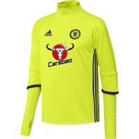 adidas Men's Chelsea FC Training Top Yellow Football Soccer 5-A-Side BNWT XS S