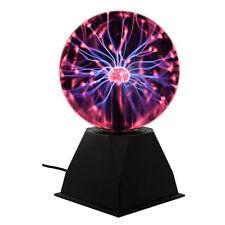 16 cm diametro palla di vetro al Plasma Nero Base a rete con filo TECH regali