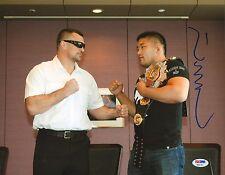 Satoshi Ishii Signed 11x14 Photo PSA/DNA COA MMA IGF Belt Picture Mirko Cro Cop