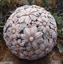 Latex with plastic backup flower garden ball concrete plaster mold