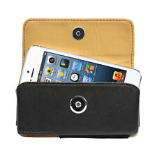 Cellet Black Noble Premium Leather Case Pouch Holster for iPhone 5 / 5G / 5S
