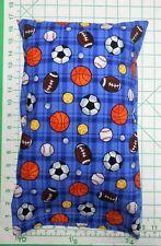 Sports Balls Soccer Baseball Football Sm. Pillow Case & Travel / Toddler Pillow