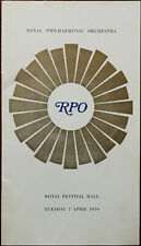 Royal Philharmonic Orchestra Royal Festival Hall Tuesday 7 April 1970 Programme
