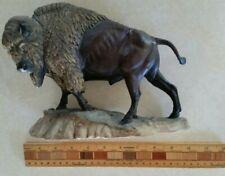 New listing National Wildlife Federation 1965 Bison Resin Figurine Buffalo Missing Base