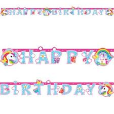 Unicorn Birthday Banner Letters Bunting Garland Girls  Happy Birthday Letters