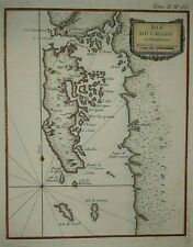 Isle du Chiloe old map Chile Chili 1764