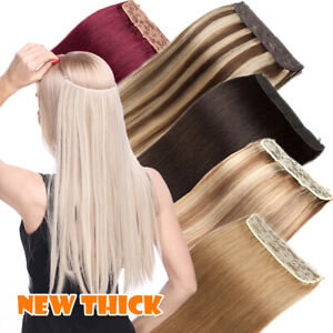 Thick Hidden No Clips Secret Wire In 100% Remy Human Hair Extensions One Piece