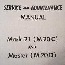 Original Mark 21 (M20C) & Master (M20D) Service Manual