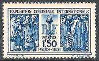 France 1931 Colonial Exhibition blue 1f 50c mint SG492