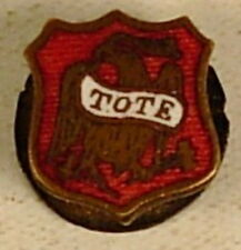 ORDER OF REDMEN EAGLE TOTE RED ENAMEL BUTTON HOLE LAPEL PIN VINTAGE