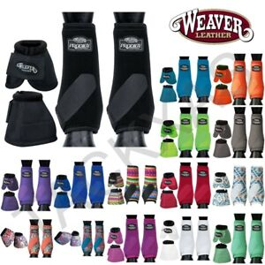 U-L,M,S Weaver Prodigy Horse Front Neoprene Athletic Sports & Bell Boots U-P-MX