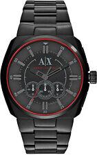 Armani Exchange AX1801 Men's Black Stainless Steel Black Dial Chronograph Watch