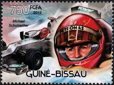 MICHAEL SCHUMACHER Mercedes-AMG Petronas F1 Race Car Stamp (2012 Guinea-Bissau)