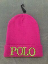 7c49af3f8a6ab NWT Girls POLO RALPH LAUREN Knit Beanie Cap Winter Ski Hat PINK One Size 7-