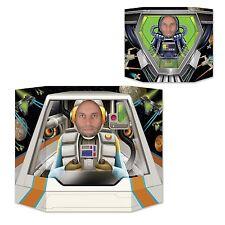 Piloto espacial Doble Cara Foto Prop - 94 X 64 Cm-Astronauta Fiesta Decoraciones