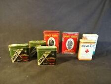 Prince Albert Crimp Cigarette Pipe Half & Half Curad Band-Aid Tin LOT