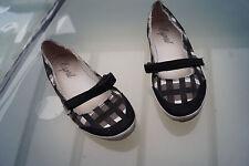 ESPRIT Damen Sommer Schuhe Sandalen Ballerinas Stoff Klett V Gr.40 schwarz #70