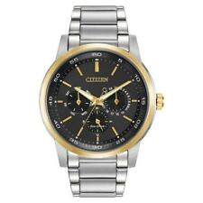 Men's Citizen Eco-Drive Chronograph Watch with Black Dial - BU2014-56E