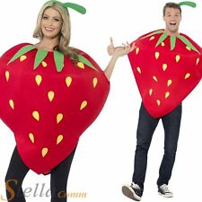 Adult Strawberry Fruit Food Novelty Mens Ladies Unisex Fancy Dress Costume