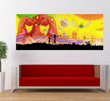 Rick And Morty Season 3 Crazy Funny Poster Large Banner Kids Nursery Wall Art
