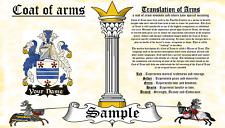 Draas-Treysse COAT OF ARMS HERALDRY BLAZONRY PRINT