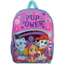 "Backpack 16"" Multi-Compartment Paw Patrol Pup Power Girl Pink Nwt"