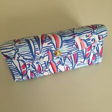 LILLY PULITZER SUNGLASS CASE Collapsible Sailboats Rare