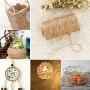100 Meters Cord DIY Crafts Toy Home Decor Dry Twine String Thread Jute Rope