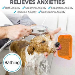 Silicone Pet Dog Lick Pad Bath Distraction Mat Feeding Dispensing Slow Food Bowl