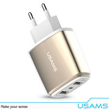USAMS - Dual USB Charger USAMS 3.4A Fast Charger US / EU Plug for iPhone Android