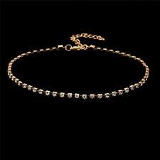 Fashion Women Crystal Bib Collar Choker Necklace Rhinestone Pendant Jewelry