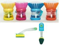 Soap Dispensing Washing Up Scrubber,Brush,Sponge Dishes Cleaning Scouring Pad,
