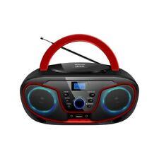 Stereo Portatile Silva Schneider FM Radio CD MP3 AUX USB Playback Nero/Rosso
