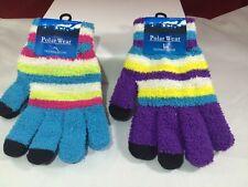 Polar Wear texting gloves 1 purple 1 blue with stripes