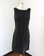 Banana Republic Monogram Black Lace Crochet Front Shift Dress Size 6 Sleeveless