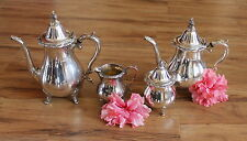 4 Pc Wallace La Reine 1100 Silver Tea Coffee Set
