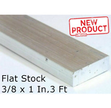 Aluminum Flat Bar Stock 3/8 Inch x 1 Inch x 3 ft Alloy Unpolished Finish 6061